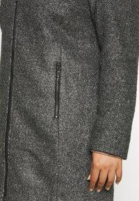 Zizzi - CAAMES COAT - Classic coat - dark grey melange - 4