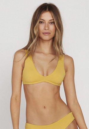 SIMPLY SEAM HALTER BIKINI TOP - Bikini top - yellow