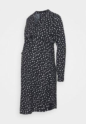 OLMCORY V-NECK TUNIC - Shirt dress - black