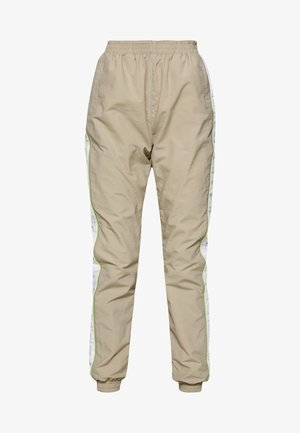 LADIES PIPED TRACKPANTS - Tracksuit bottoms - concrete/electriclime