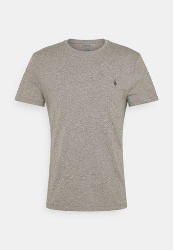 CUSTOM SLIM FIT JERSEY CREWNECK T-SHIRT - Basic T-shirt - metallic grey heather
