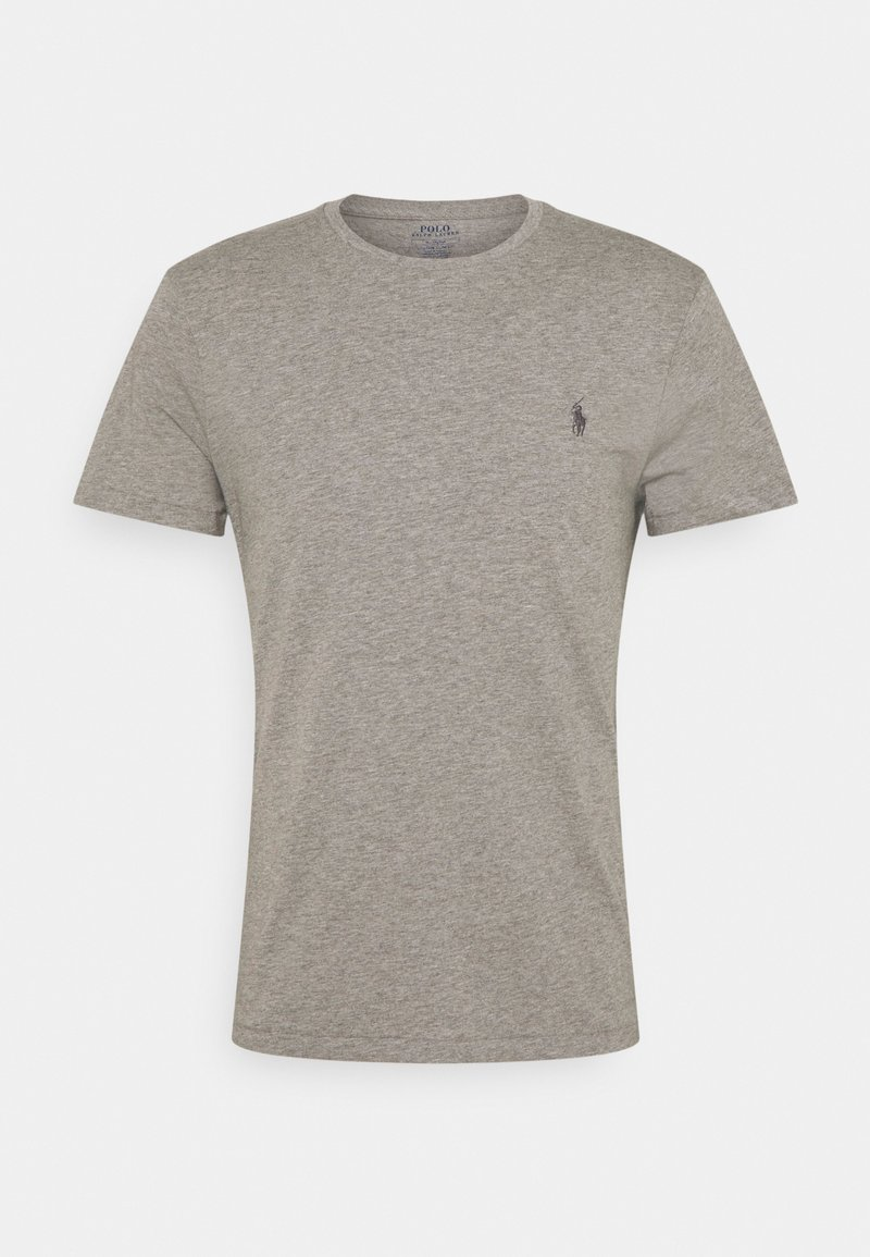 Polo Ralph Lauren - CUSTOM SLIM FIT JERSEY CREWNECK T-SHIRT - Basic T-shirt - metallic grey heather