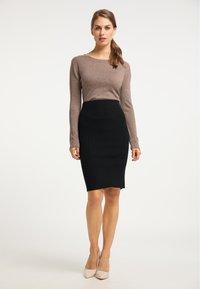usha - Pencil skirt - schwarz - 1