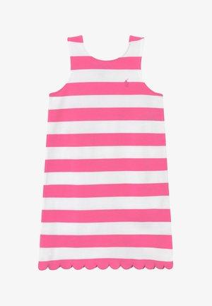 PONTE - Robe en jersey - baja pink/white