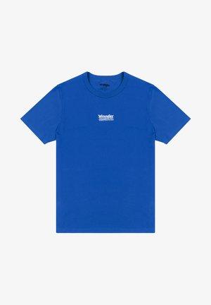 Print T-shirt - wrangler blue