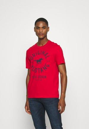 ALEX - T-shirt print - pompeian red