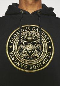 Glorious Gangsta - BERTO OVERHEAD HOOD - Hoodie - black - 4