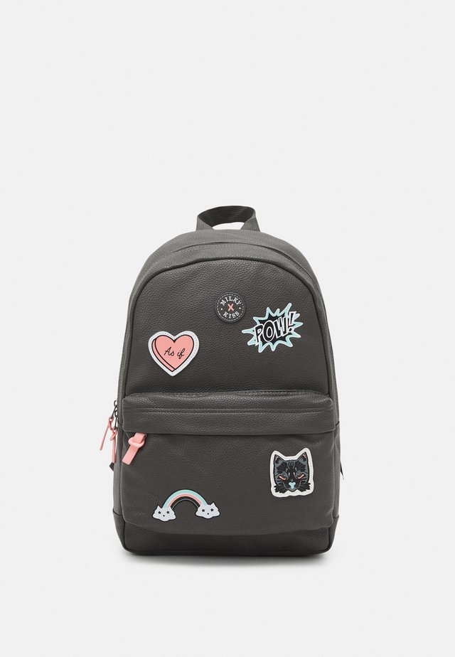 BACKPACK MILKY KISS PATCH PERFECT UNISEX - Rugzak - grey