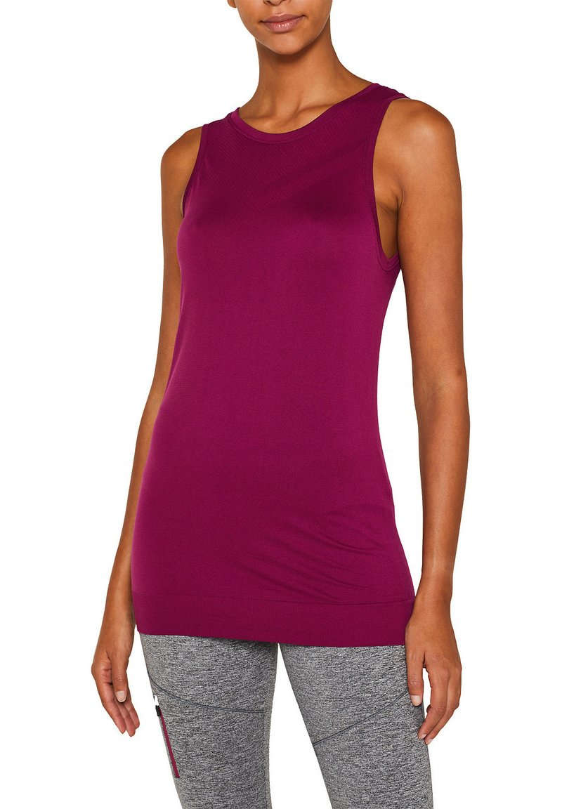 Esprit Sports - NAHTLOSES - Sports shirt - dark pink