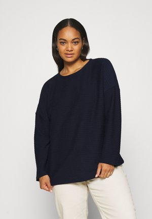 BATWING LOOSE  - Long sleeved top - sky captain blue