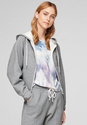 Sweater met rits - grey melange