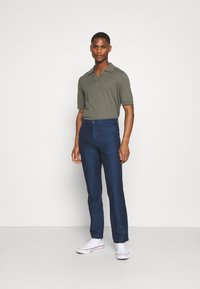 Tommy Hilfiger Tailored - DENTON HERRINGBONE - Trousers - desert sky - 1