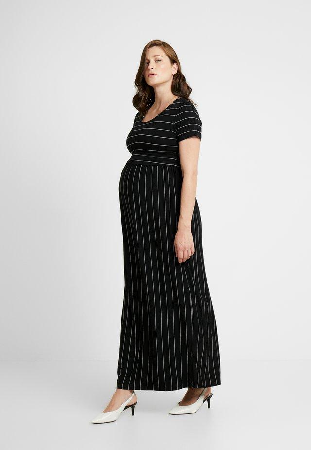 CROP TOP NURSING DRESS - Długa sukienka - black