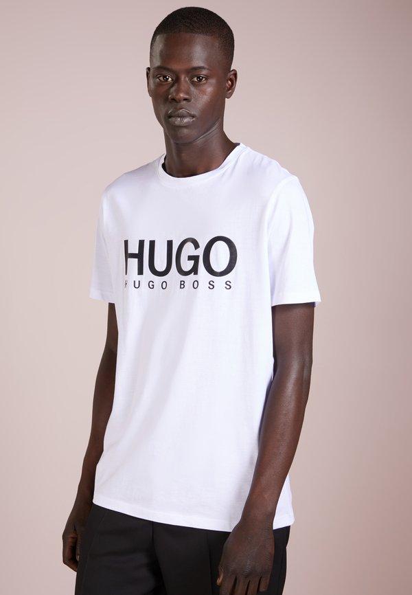HUGO DOLIVE - T-shirt z nadrukiem - open white/mleczny Odzież Męska IEIU