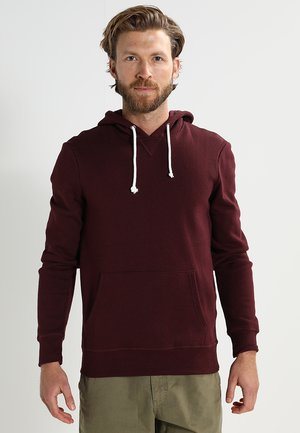 Sweat à capuche - bordeaux melange