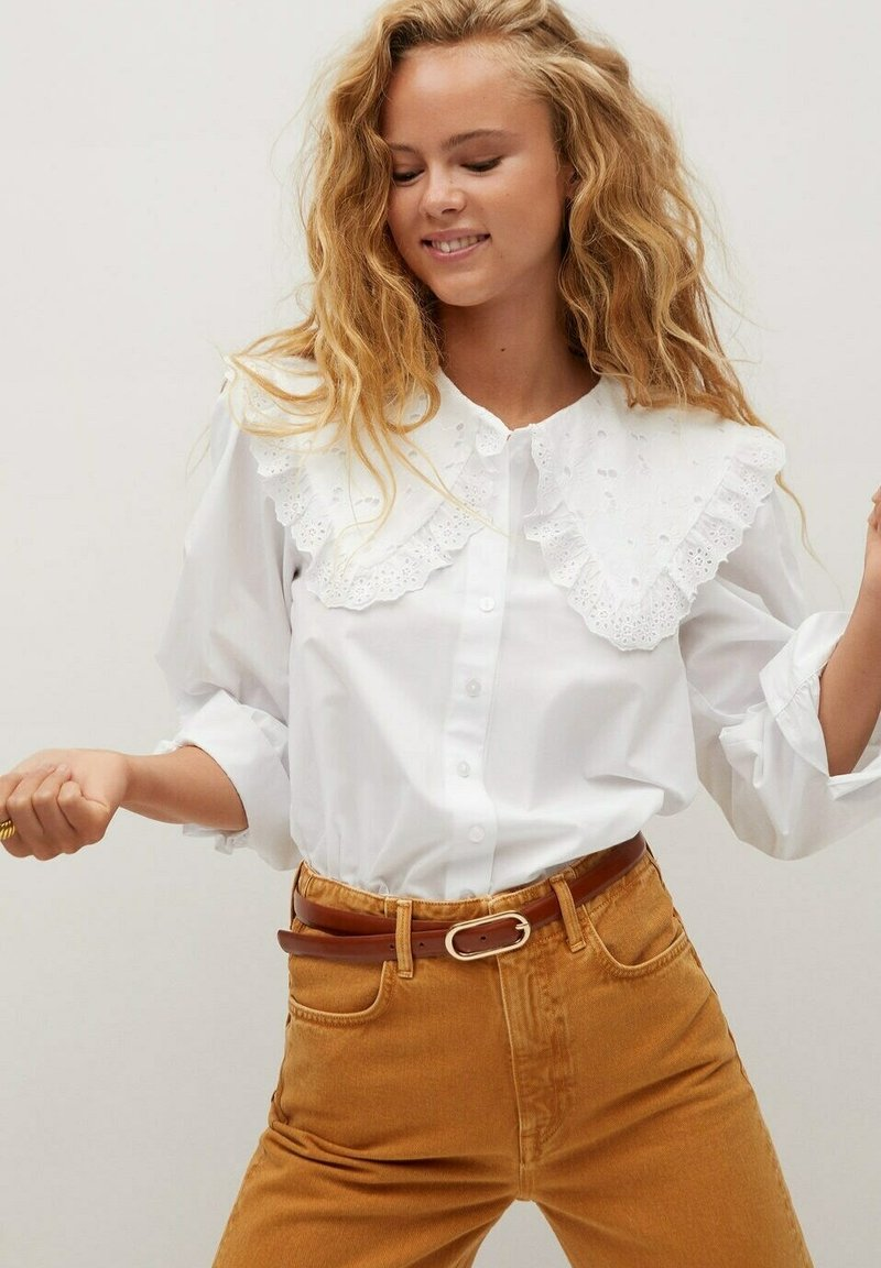 Mango - BABY - Button-down blouse - cremeweiß