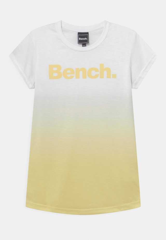 CASSIA - T-shirts print - white/yellow
