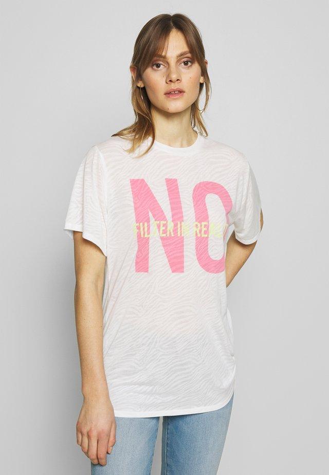 PRINTED TOP - Print T-shirt - white