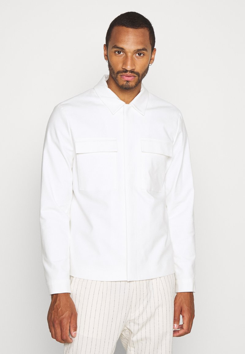 Topman - SMART SHACKET - Summer jacket - white