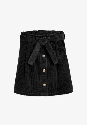 CORD  - A-line skirt - black