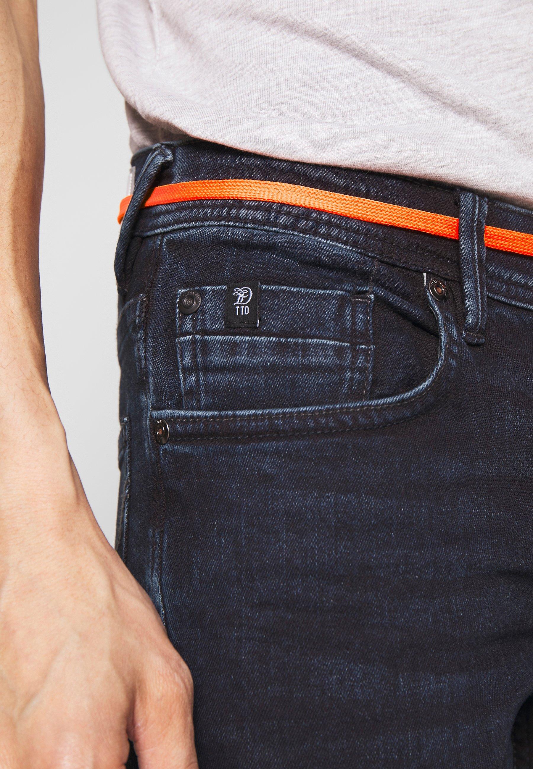 TOM TAILOR DENIM CULVER PERFORMANCE - Jeans Skinny Fit - blue black denim