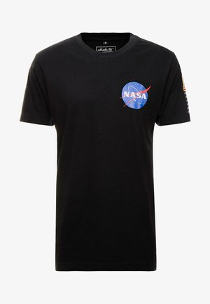 NASA INSIGNIA LOGO FLAG TEE - T-shirt print - black
