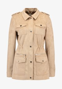 River Island - ARMY JACKET - Faux leather jacket - sand - 4
