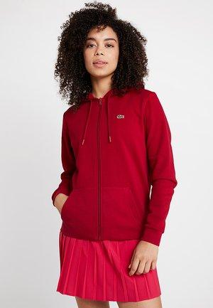 WOMEN TENNIS - Zip-up hoodie - bordeaux