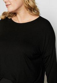 Dorothy Perkins Curve - BATWING SLEEVE DETAIL TEE - Langærmede T-shirts - black - 5