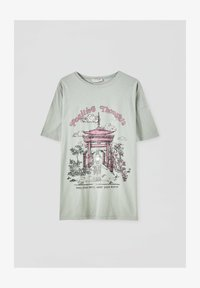 PULL&BEAR - Print T-shirt - light green - 4