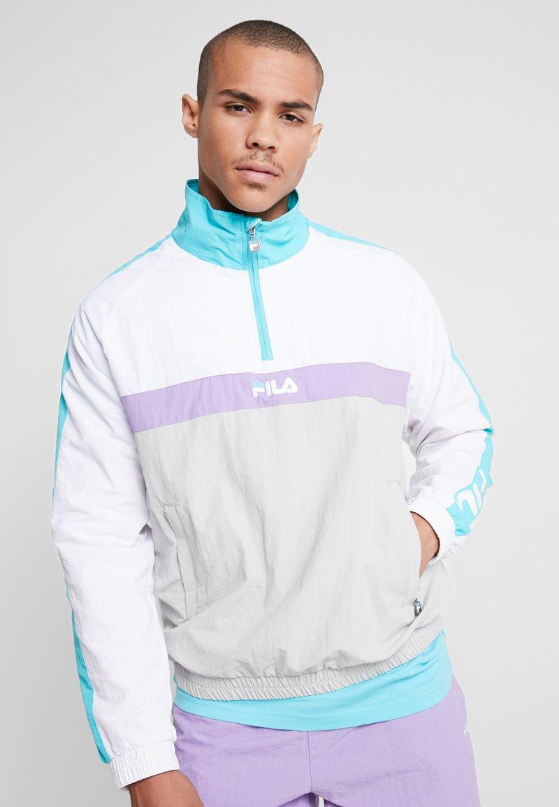 Fila - JONA WOVEN HALF ZIP JACKET - Treningsjakke - Bright white/blue curacao/violet tulip