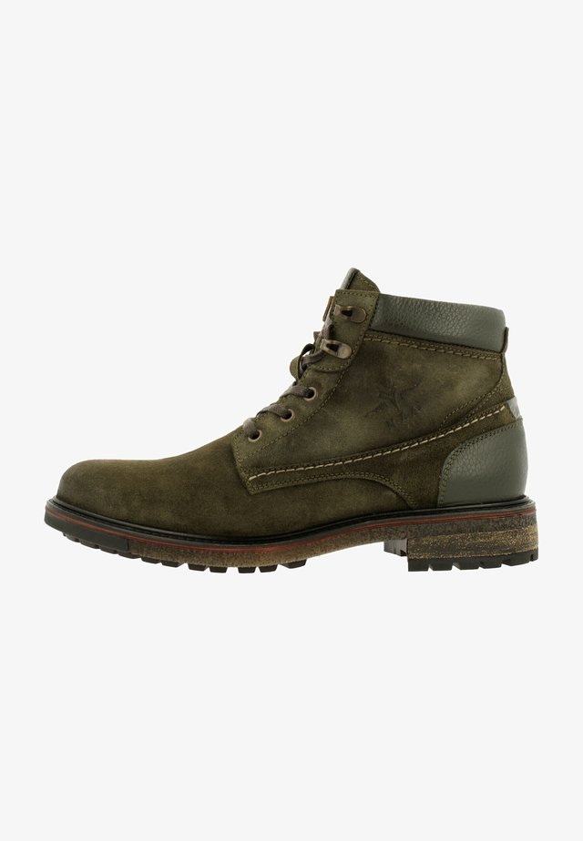 NELSON MID SUE - Lace-up ankle boots - olive