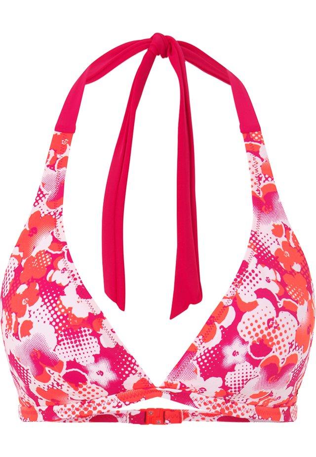 JASMIN - Bikini top - fuchsia/rosa/weiß