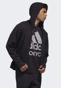 adidas Performance - MUST HAVES ENHANCED AEROREADY HOODED - Sweatjacke - black - 2