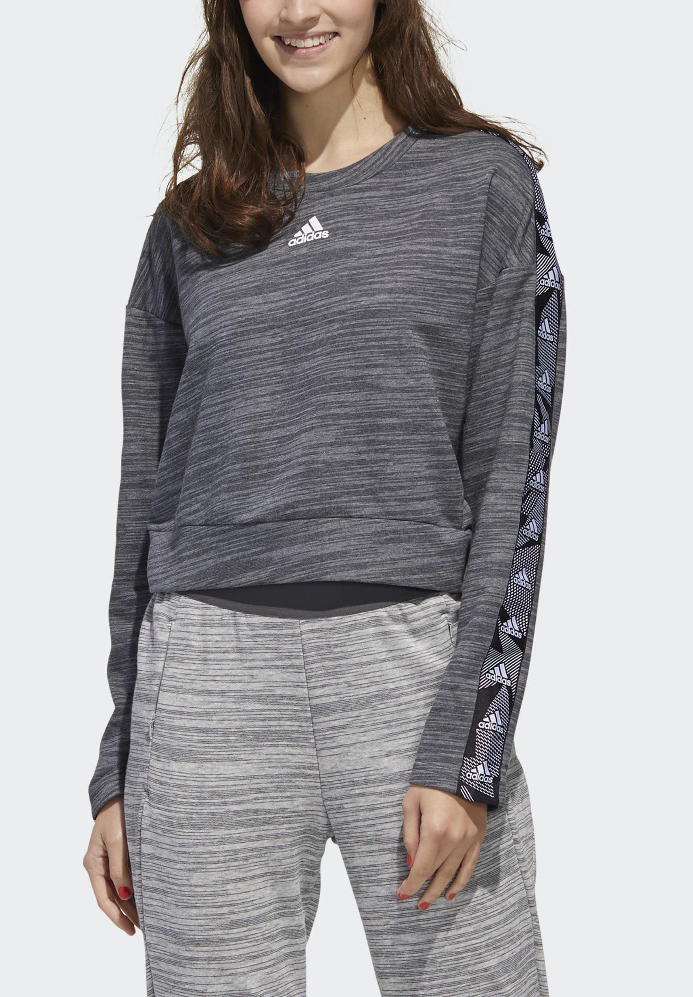 adidas Performance Sweatshirt - dark grey heather/white wVzb4