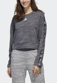adidas Performance - Sweatshirt - dark grey heather/white - 4