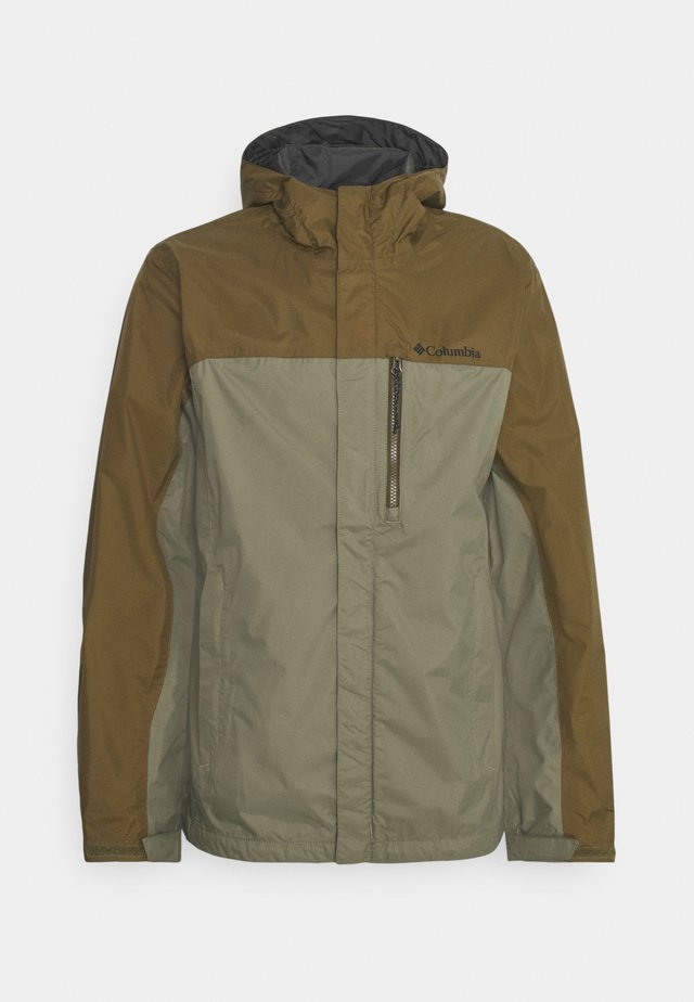 POURING ADVENTURE JACKET - Outdoorjas - stone green/new olive
