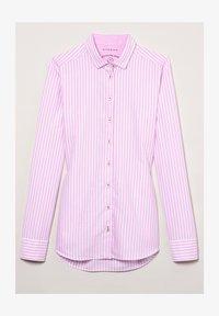 Eterna - MODERN CLASSIC - Button-down blouse - rosa/weiß - 2