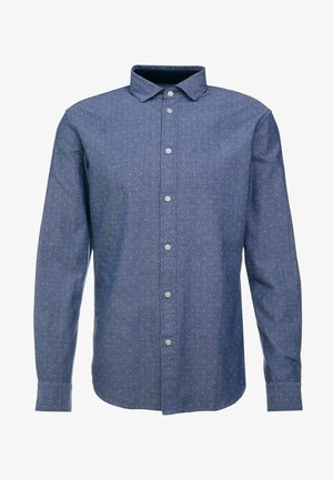 SLHSLIMMARK WASHED - Formal shirt - dark blue