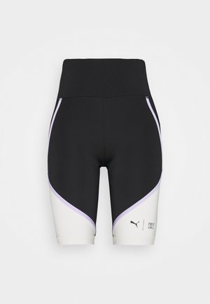 TRAIN FIRST MILE BIKER SHORT - Tights - black/eggnog