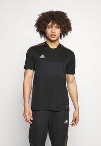 adidas Performance - TIRO PRIDE - T-shirt con stampa - black - 0