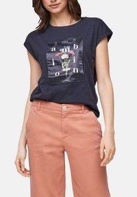 s.Oliver - Print T-shirt - navy - 5