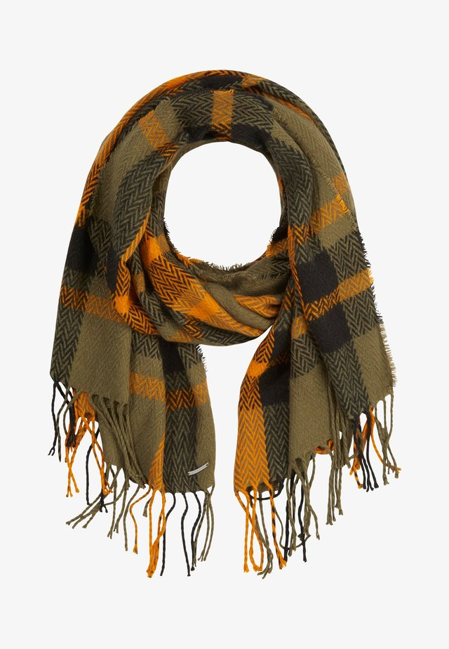 Scarf - orange herringbone