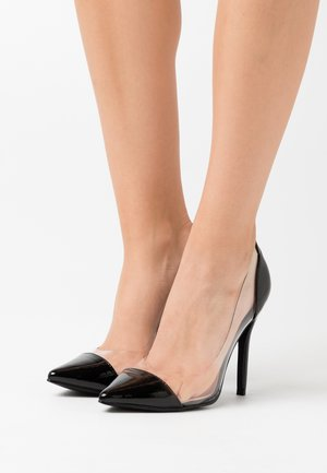 High heels - clear/black
