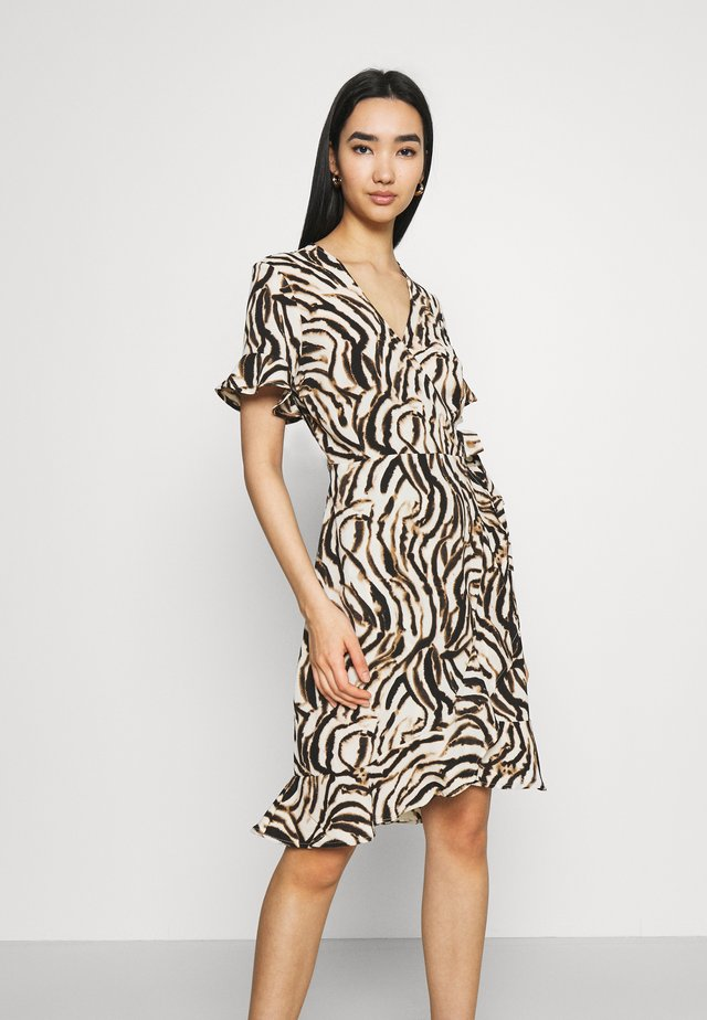 VMSAGA WRAP FRILL DRESS  - Korte jurk - birch/elva