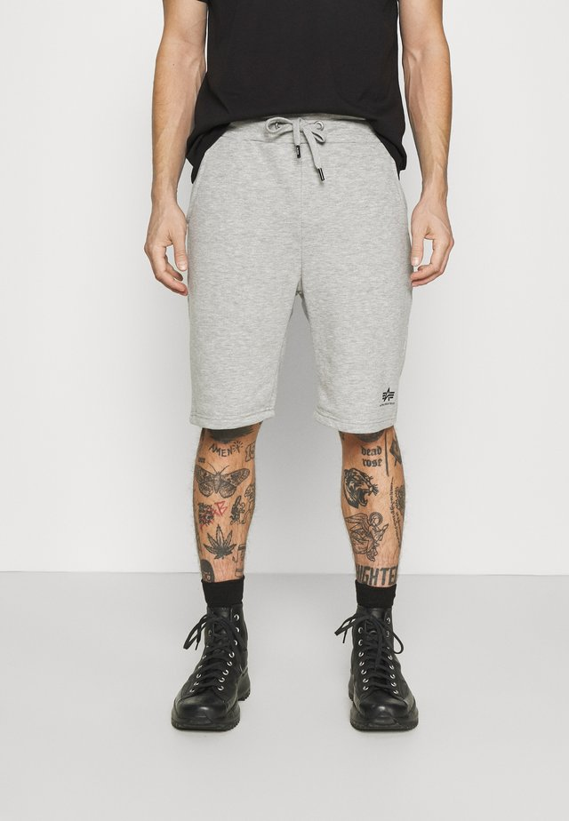 BASIC SMALL LOGO - Shorts - grey heather