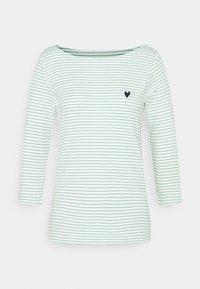 TOM TAILOR - STRIPE BOAT NECK - Long sleeved top - white/green - 0