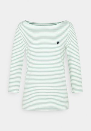 STRIPE BOAT NECK - Long sleeved top - white/green