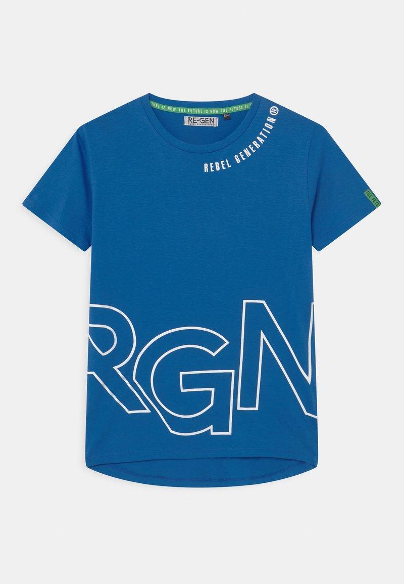 Re-Gen - TEEN BOYS - Triko spotiskem - nautical blue