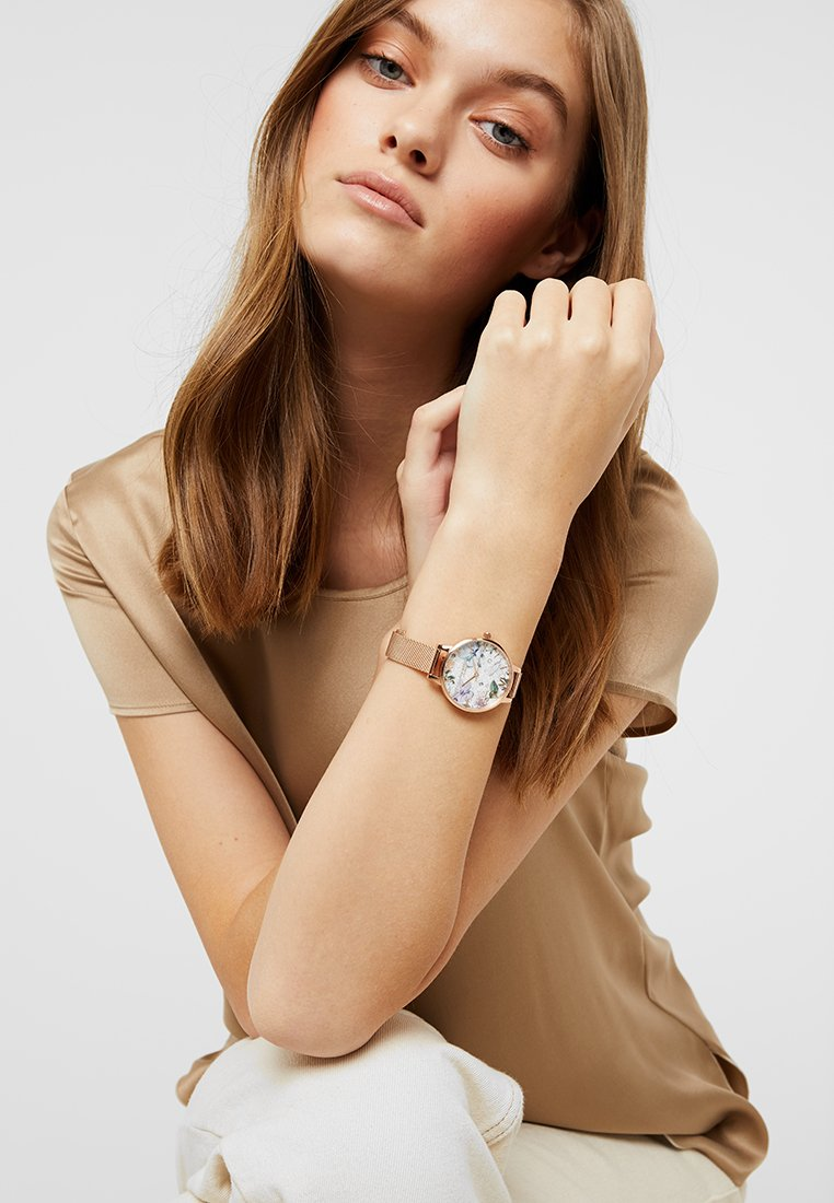 Olivia Burton - BEJEWELLED FLORALS - Watch - rose gold-coloured